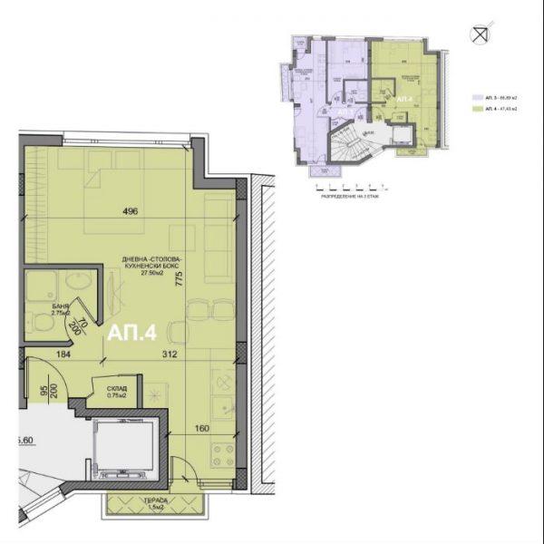 Жилищна сграда с малки апартаменти