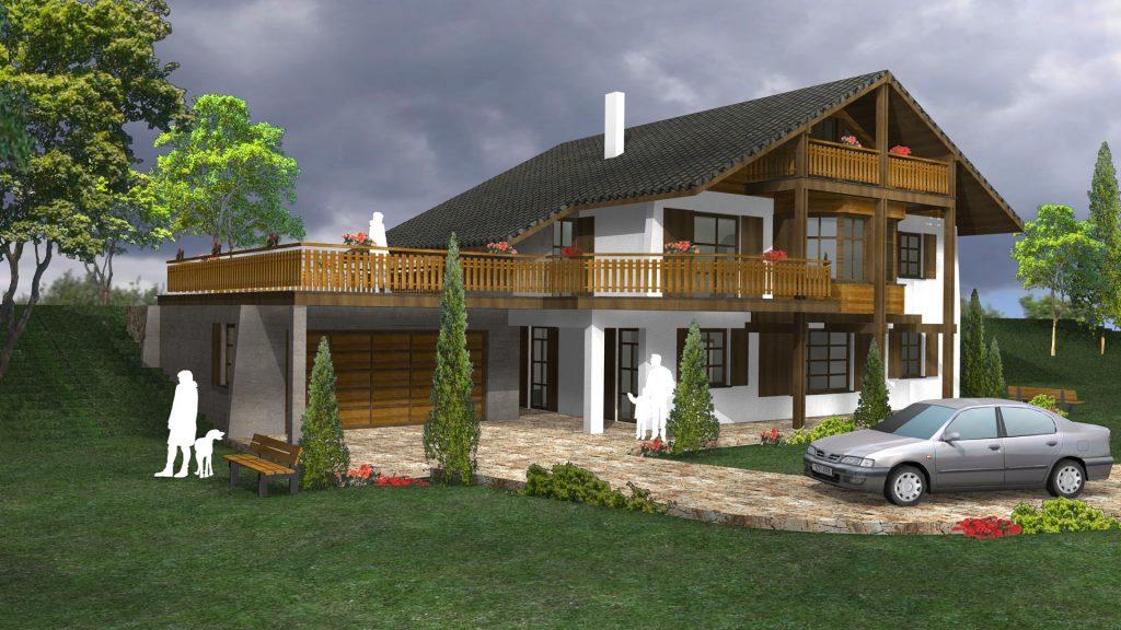 Проект за тиролска къща в Норвегия